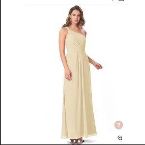 Champagne colored Azazie Bridesmaid dress